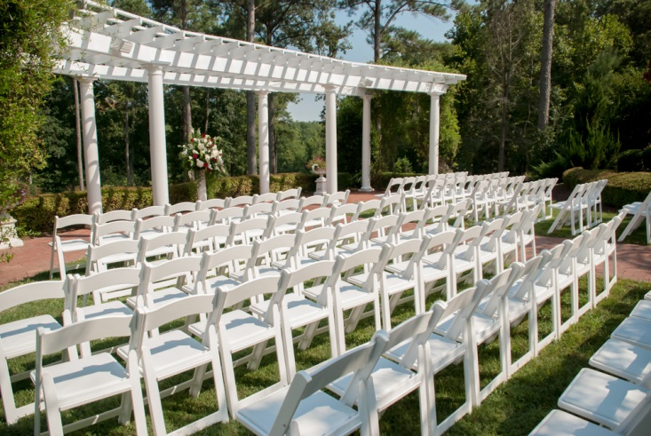Area where guests will sit during the ceremony